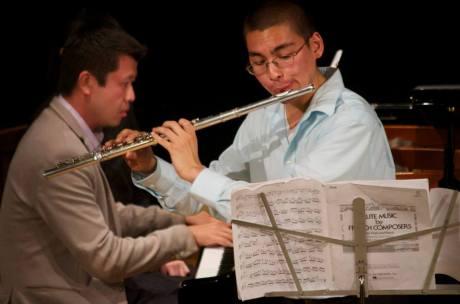 Flutist Chaz Salazar (courtesy InterHarmony Music Festival)