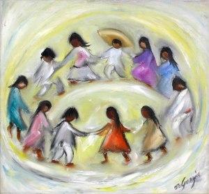 """Los Niños"" by DeGrazia (image courtesy of the DeGrazia Foundation)"